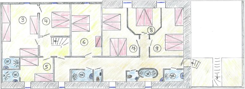 Plattegrond Keuken Horeca : Plattegrond bovenverdieping